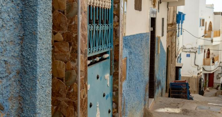 Blaue Gassen in Taghazout