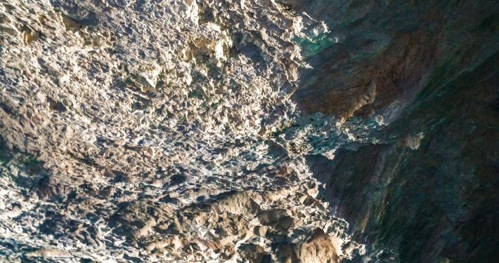 In der blauen Grotte Cova Blava Mallorca