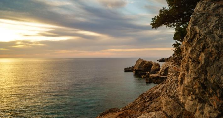 Sonnenuntergang in Llucalcari Mallorca