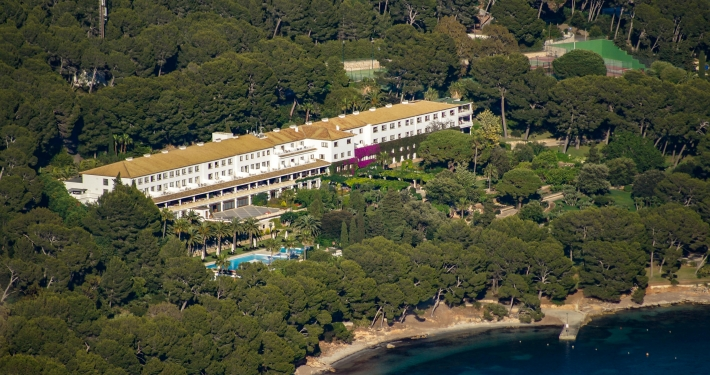 Luxushotel Formentor von oben