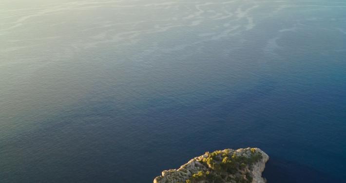 Steilküste: Blick hinab