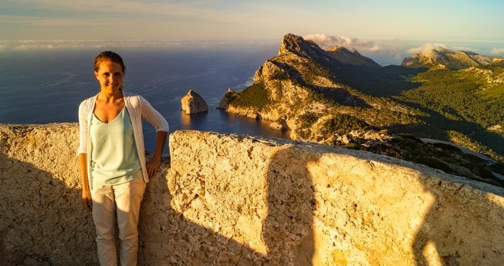 Auf dem Wachturm Talaia d'Albercutx