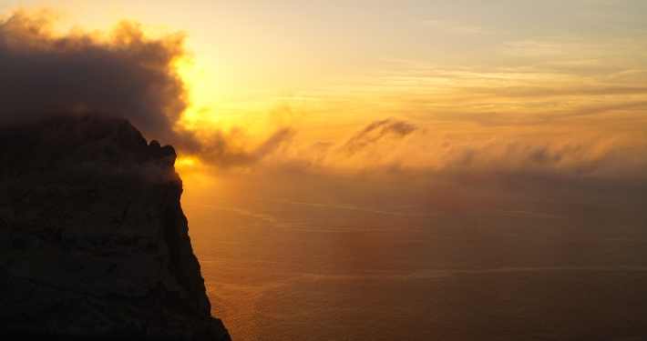 Sonnenuntergang am Mirador d'es Colomer