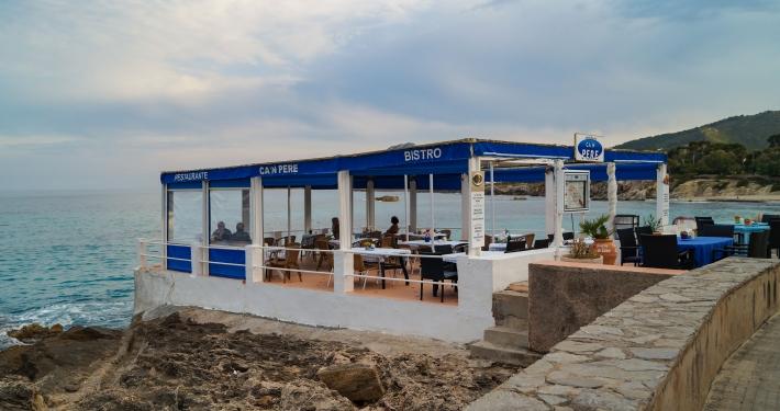 Restaurants an der Promenade in Cala Ratjada