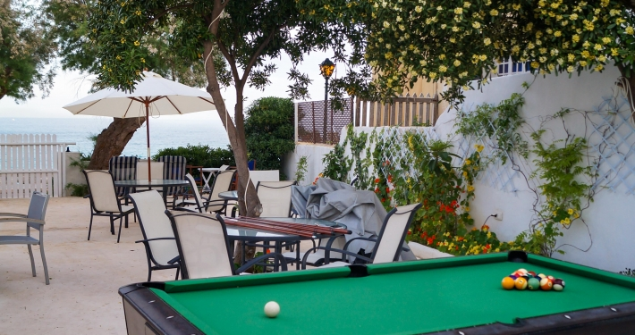 Open Air Billard im Sea Club in Cala Ratjada