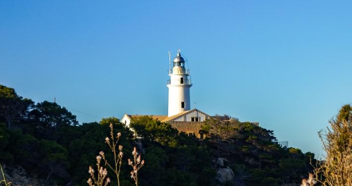 Leuchtturm Faro de Capdepera in Cala Ratjada