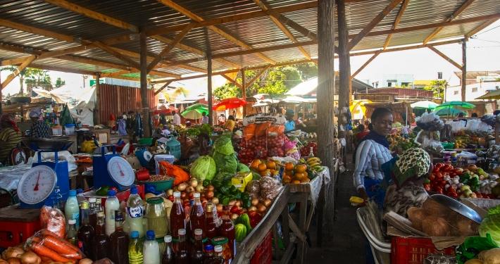 Markttreiben in Mosambik