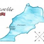 Marokko Reise Karte
