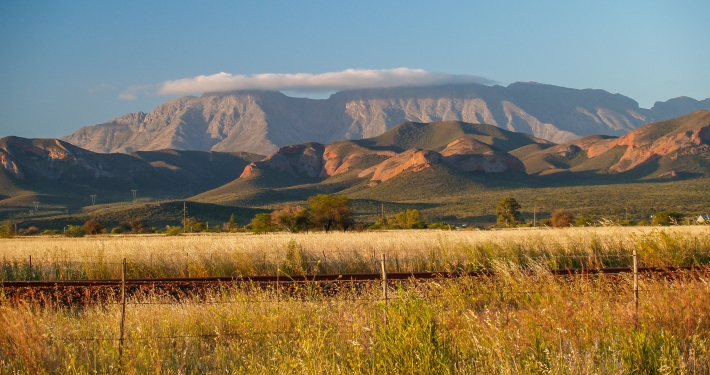 Auf dem Weg nach Oudtshoorn Südafrika