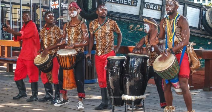 Trommler in Kapstadt, Südafrika