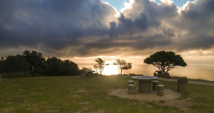 Sonnenuntergang am Signal Hill Kapstadt, Südafrika