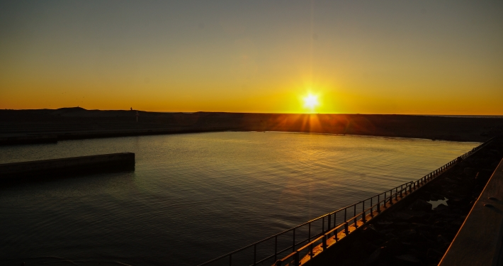 Sonnenuntergang in Vorupør