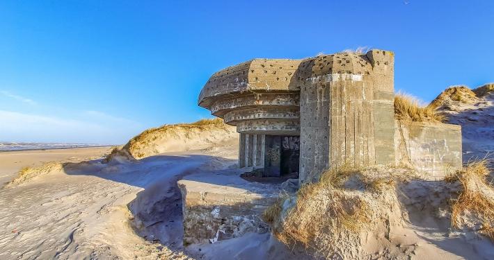 Bunker am Strand in Blåvand