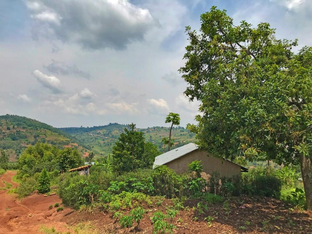 Weg zum Krankenhaus Gikonko Ruanda