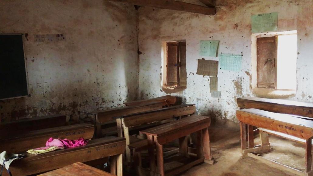 Alte Schule in Ruanda