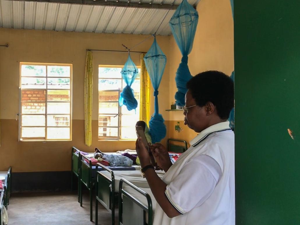 Krankenzimmer in Gikonko in Ruanda